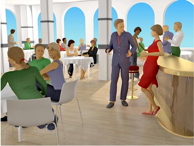§ 13-8 Figur 1: Gode romakustiske forhold er viktig i restauranter.