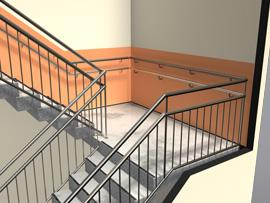 Kontakt lesbisk rekkverk trapp inne høyde aas